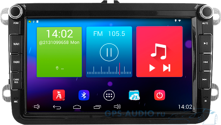 Штатная автомагнитола Android 4.4.2 Newsmy Carpad 3 NR5261-H-H0 для Volkswagen и Skoda